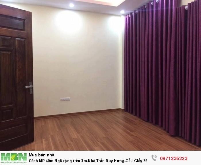 Cách MP 40m.Ngõ rộng trên 3m.Nhà Trần Duy Hưng - Cầu Giấy 35m2 5 tầng MT 5m giá 3.6 tỷ