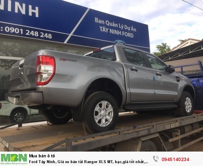 Ford Tây Ninh, Giá xe bán tải Ranger XLS MT, bạc,giá tốt nhất, giao xe ngay.