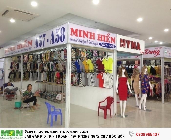 Bán Gấp Kiot Kinh Doanh 120tr/12m2 Ngay Chợ Hóc Môn 2