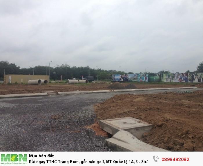 Đất ngay TTHC Trảng Bom, gần sân golf, MT Quốc lộ 1A, 6 - 8tr/m2, tặng vàng 5 chỉ tại lễ mở bán