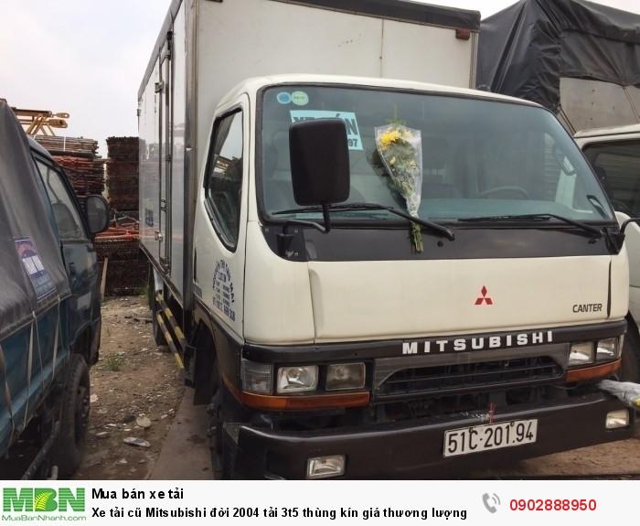 Xe tải cũ Mitsubishi đời 2004 tải 3t5 thùng kín giá thương lượng