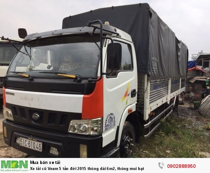 Xe tải cũ Veam 5 tấn đời 2015 thùng dài 6m2, thùng mui bạt 1