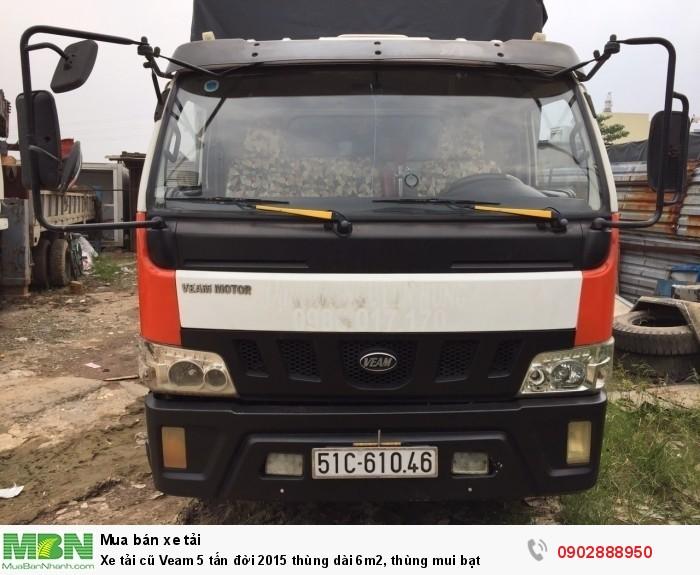 Xe tải cũ Veam 5 tấn đời 2015 thùng dài 6m2, thùng mui bạt 0