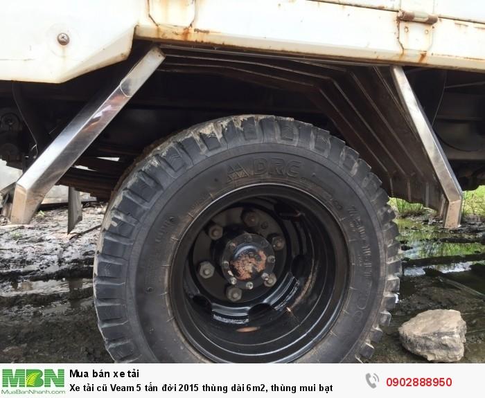 Xe tải cũ Veam 5 tấn đời 2015 thùng dài 6m2, thùng mui bạt 3