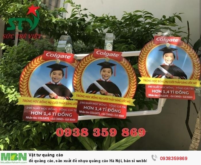 sản xuất wobbler để bàn, sản xuất wobbler quảng cáo, wobbler quảng cáo, gia công wobbler
