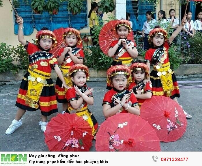 Cty trang phục biểu diễn hoa phượng bbìn