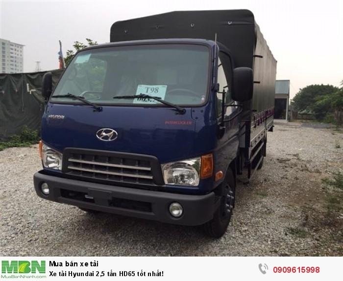 Xe tải Hyundai 2,5 tấn HD65 tốt nhất!