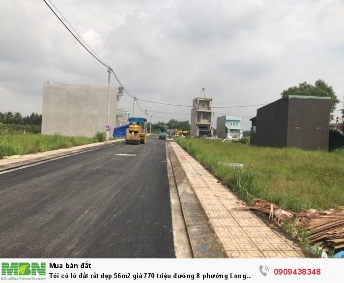 Tôi có lô đất rất đẹp 56m2 giá 770 triệu đường 8 phường Long Phước