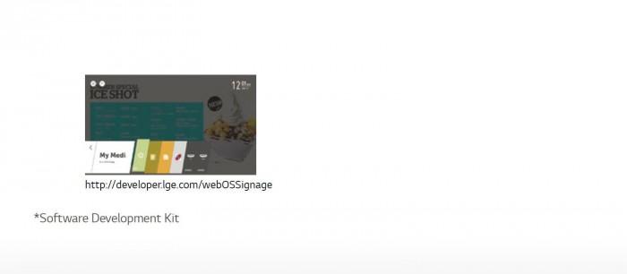 Nền tảng webOS 2.0 cung cấp các công cụ tiện dụng và dễ dàng để tạo nên nội dung. Đội ngũ kỹ thuật và phát triển phần mềm của LG đã làm cho việc thiết lập nội dung trở nên đơn giản hơn.0