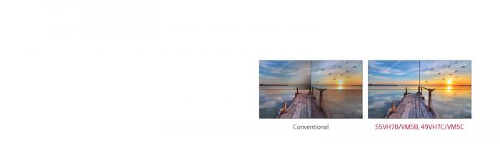 Thông qua công nghệ thiết lập hình ảnh màn hình ghép (VIC), những sự khác biệt giữa màu sắc và độ sáng được cải thiện nhờ vào thuật toán hình ảnh, để mỗi màn hình duy trì được sự cân bằng trắng phù hợp khi ghép lại với nhau.5