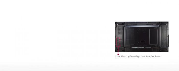 Với 8 nút điểu khiển, sẽ dễ dàng hơn trong việc mở rộng các cấu trúc của màn hình VM5C, như kiểm soát nội dung hiển thị trên màn hình và thay đổi nguồn vào.4