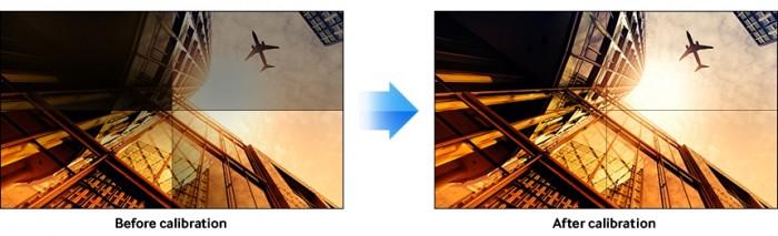 Các màn hình trải qua một quá trình cân chỉnh màu sắc tỉ mỉ tại nhà máy, đảm bảo màu sắc chính xác cũng như nhiệt độ màu trùng nhau mà không làm biến dạng hình ảnh và không cần cân chỉnh bằng tay. Thông qua chức năng Samsung Color Expert, người dùng có thể cân chỉnh màu sắc phù hợp với nhu cầu của mình.5