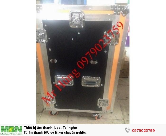Tủ âm thanh 16U có Mixer chuyên nghiệp