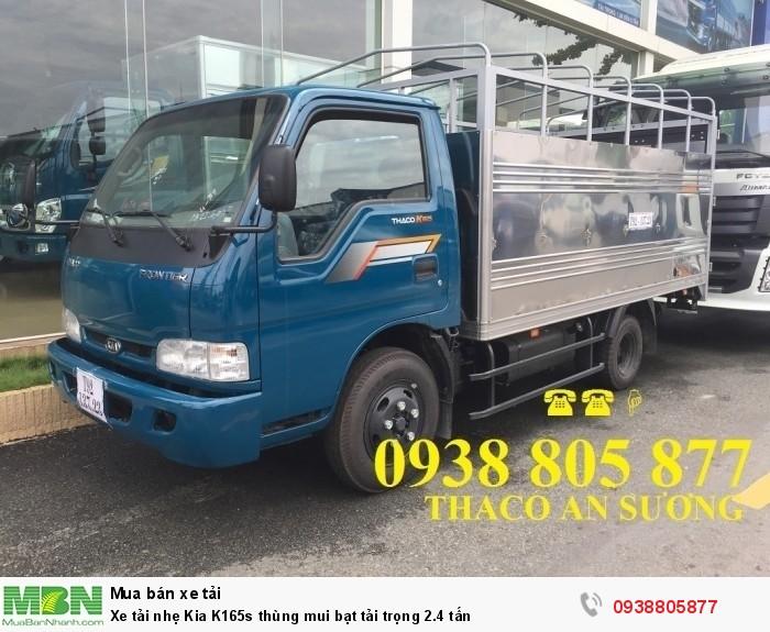 Xe tải nhẹ Kia K165s thùng mui bạt tải trọng 2.4 tấn