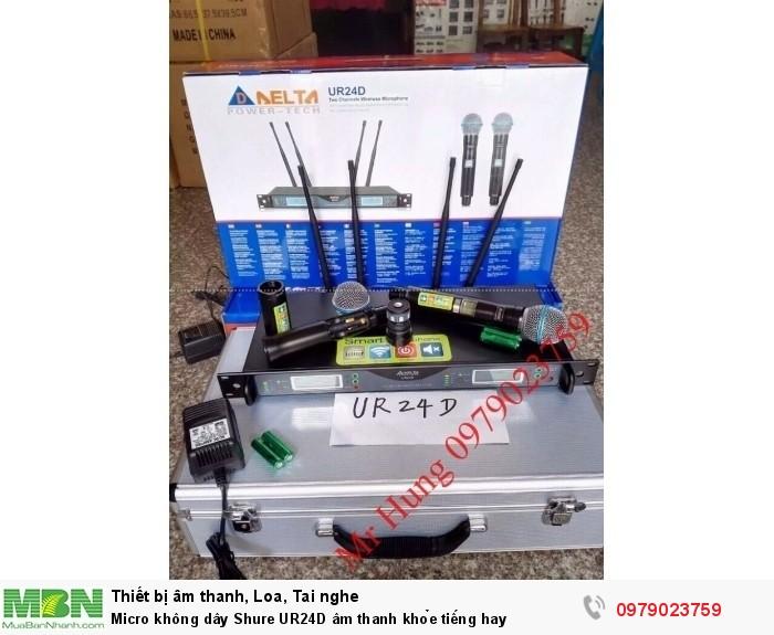 Micro không dây Shure UR24D âm thanh khỏe tiếng hay