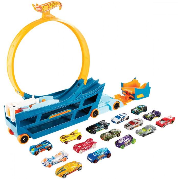 Bộ đồ chơi Hot Wheels Stun & Go 15 xe và ván trượt.1