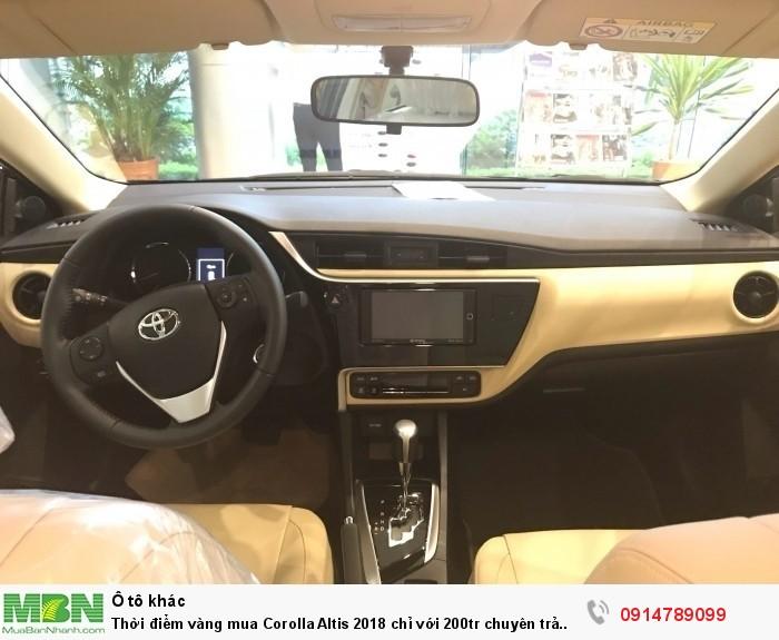 Thời điểm vàng mua Corolla Altis 2018 chỉ với 200tr chuyên trả góp 90% giá trị xe..