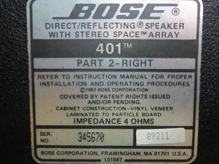 Loa Bose 401 (Made In Usa)0
