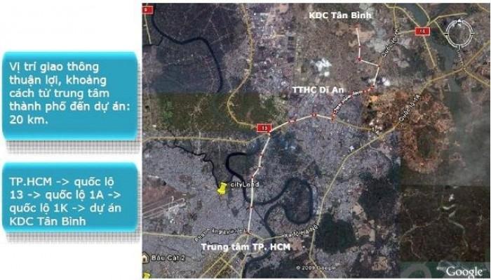 Đất Nền Mặt Tiền Kinh Doanh từ 5x20-5x29 Đối Diện Công Viên Bicosi, Tân Bình, Dĩ An.