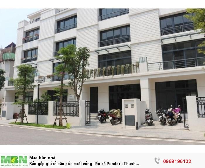 Bán gấp giá rẻ căn góc cuối cùng liền kề Pandora Thanh Xuân, CK 3%, tặng Mercedes