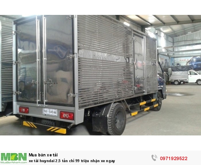 xe tải huyndai 2.5 tấn chỉ 99 triệu nhận xe ngay