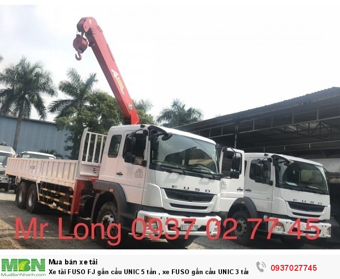Xe tải FUSO FJ gắn cẩu UNIC 5 tấn , xe FUSO gắn cẩu UNIC 3 tấn , xe tải FUSO 15 tấn gắn cẩu , xe FUSO 3 chân gắn cẩu UNIC