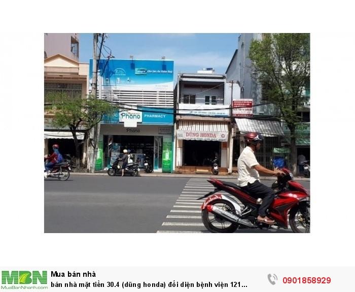 bán nhà mặt tiền 30.4 (dũng honda) đối diện bệnh viện 121 (4x34m), khu đắc địa TP