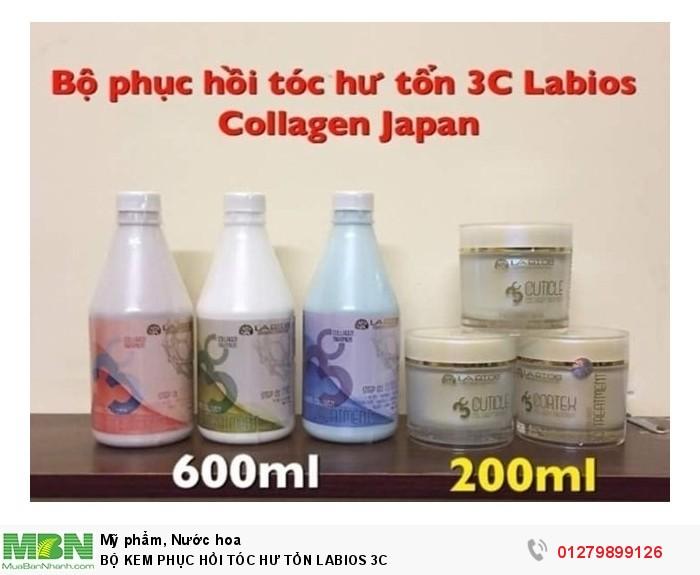 Bộ kem phục hồi tóc hư tổn LABIOS 3C cao cấp Nhật Bản cho cá nhân tại nhà1
