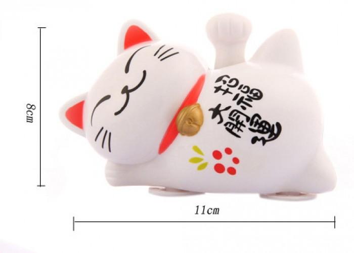 Tượng Mèo Nằm Vảy Tay May Mắn, Loại Lớn Kích thước 8x11 cm - MSN18310522