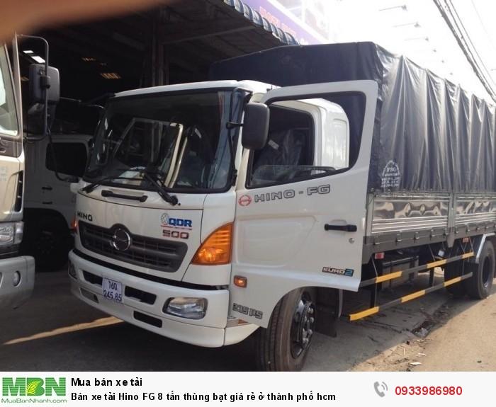 Bán xe tải Hino FG 8 tấn thùng bạt giá rẻ ở thành phố hcm