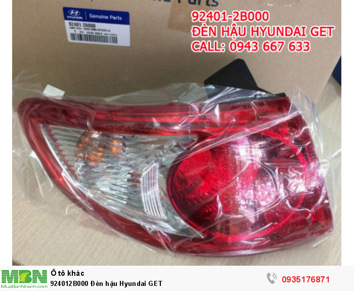 924012B000 Đèn hậu Hyundai GET