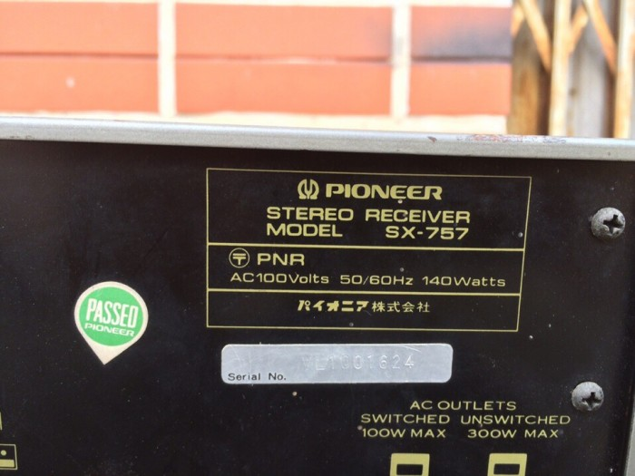 Amply/Receiver Pioneer SX 757, 4 sò sắt