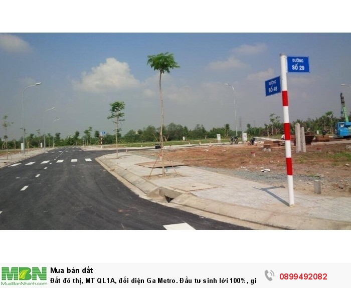 Đất đô thị, MT QL1A, đối diện Ga Metro. Đầu tư sinh lời 100%