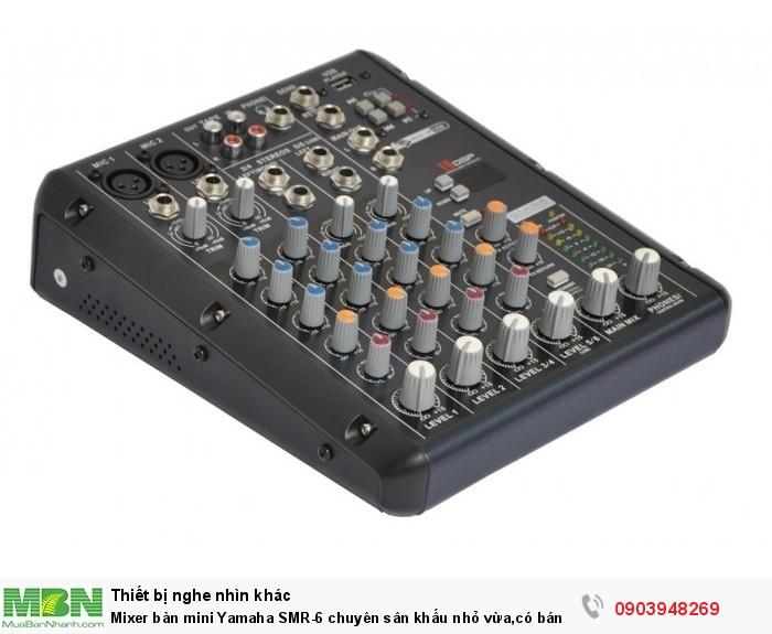 Tối đa 4 Mic / 4 dòng đầu vào (2 mono + 2 stereo)