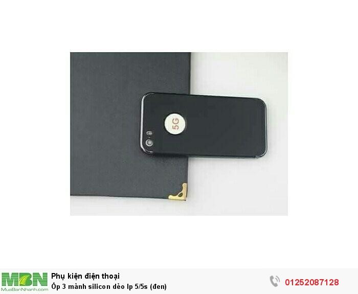 Ốp 3 mảnh silicon dẻo Ip 5/5s (đen)