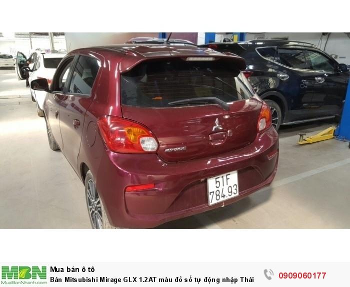 Bán Mitsubishi Mirage GLX 1.2AT màu đỏ số tự động nhập Thái cuối 2016 biển Sài Gòn