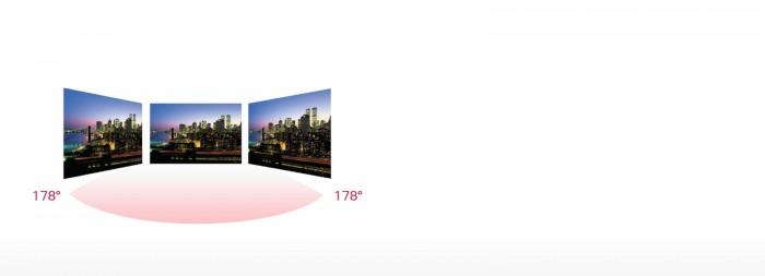 Với công nghệ tấm nền IPS màn hình được kiểm soát bởi các tinh thể lỏng cho phép người dùng nhìn rõ hình ảnh trên màn hình từ bất kỳ góc nào mà không bị biến đổi màu sắc.2