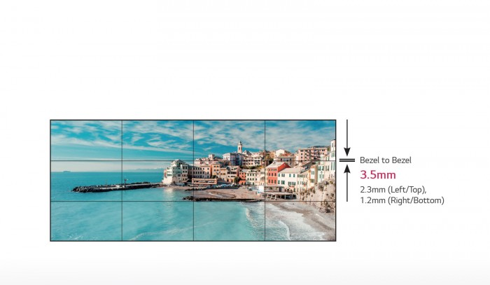 Màn hình ghép VL5B được thiết kế với viền siêu mỏng đem lại một màn hình kỹ thuật số trực quan mà hiệu quả trong việc lắp đặt, bảo trì và quản lý.1