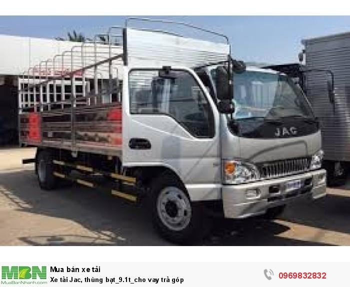 bán xe tải jac, thùng bạt_9.1t_cho vay trả góp