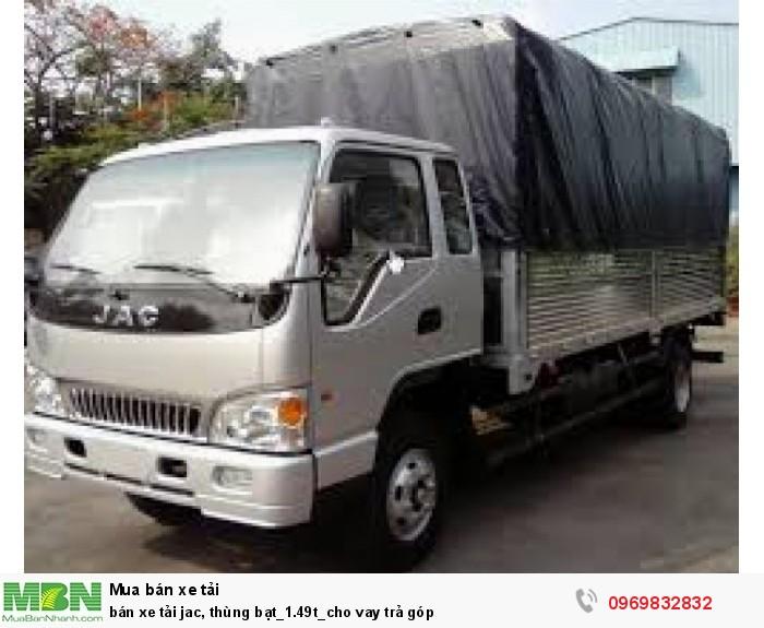 bán xe tải jac, thùng bạt_1.49t_cho vay trả góp