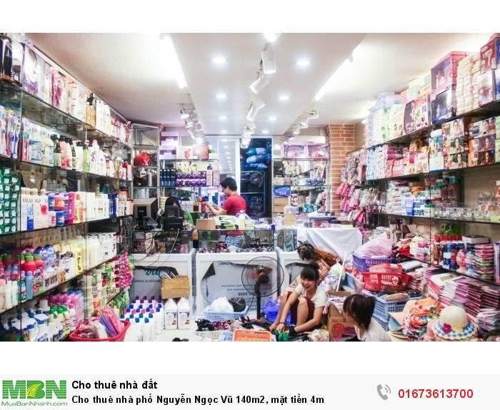 Cho thuê nhà phố Nguyễn Ngọc Vũ 140m2, mặt tiền 4m