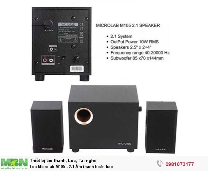 Loa Microlab M105 - 2.1 Âm thanh hoàn hảo