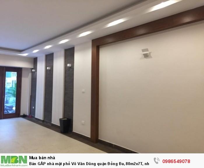 Bán gấp nhà mặt phố Võ Văn Dũng quận Đống Đa, 80m2x7T, nhà mới đẹp, có thang máy, 20 tỷ.