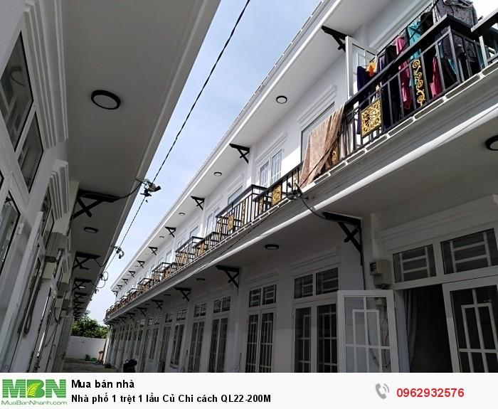 Nhà phố 1 trệt 1 lầu Củ Chi cách QL22-200M