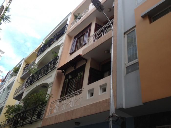 Bán nhà mặt tiền đường hoa khu phan xích long, 4x16,1 trệt 3 lầu