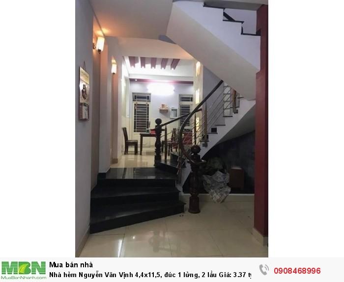 Nhà hẻm  Nguyễn Văn Vịnh 4,4x11,5, đúc 1 lửng, 2 lầu