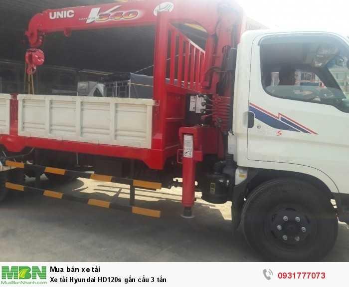 Xe tải Hyundai HD120s gắn cẩu 3 tấn