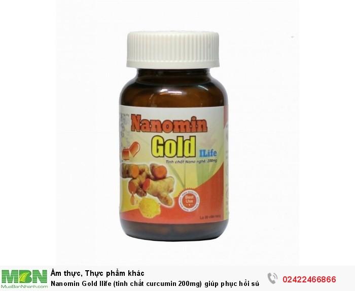 Nanomin Gold Ilife (tinh chất curcumin 200mg) giúp phục hồi sức khỏe0