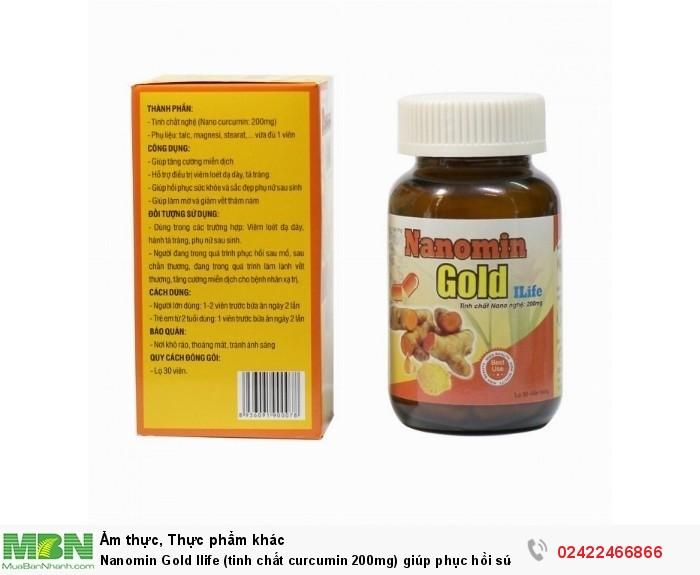 Nanomin Gold Ilife (tinh chất curcumin 200mg) giúp phục hồi sức khỏe2