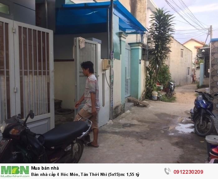 Bán nhà cấp 4 Hóc Môn, Tân Thới Nhì (5x15)m: 1,55 tỷ